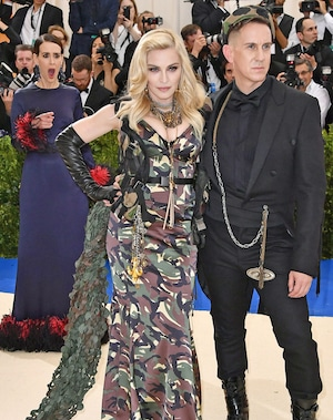 Sarah Paulson, Madonna, Jeremy Scott, 2017 Met Gala Candids