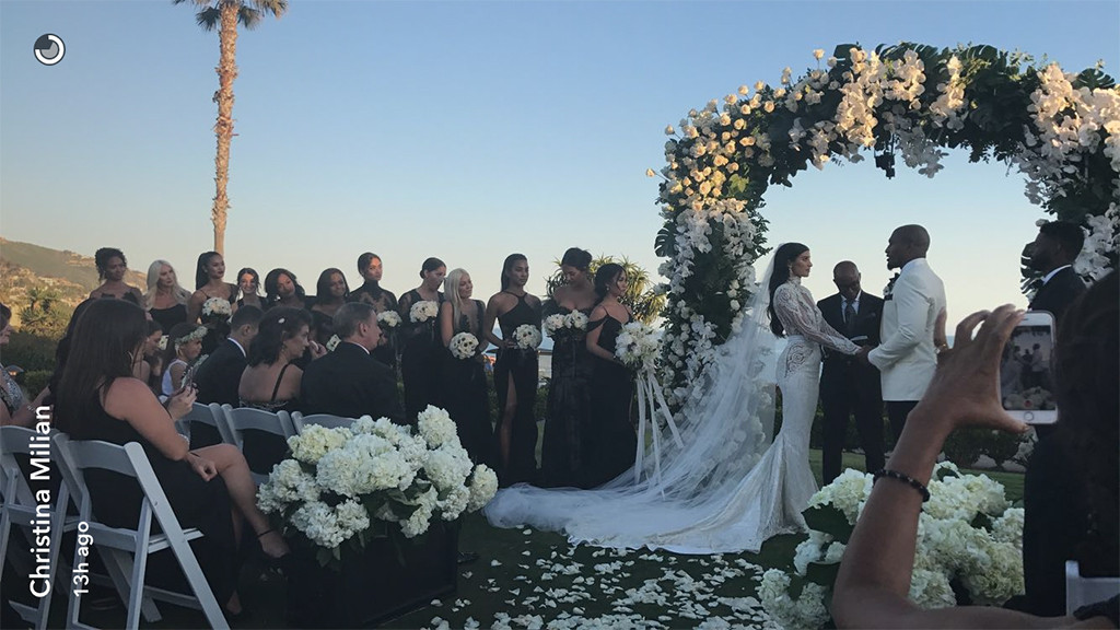 Nicole Williams, Larry English, Wags, Wedding