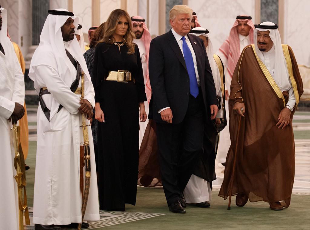 President Donald Trump, Melania Trump, Saudi King Salman