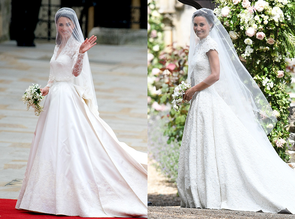 Kate Middletons Wedding Dresses.Pippa Middleton S Wedding Vs Kate Middleton S Wedding