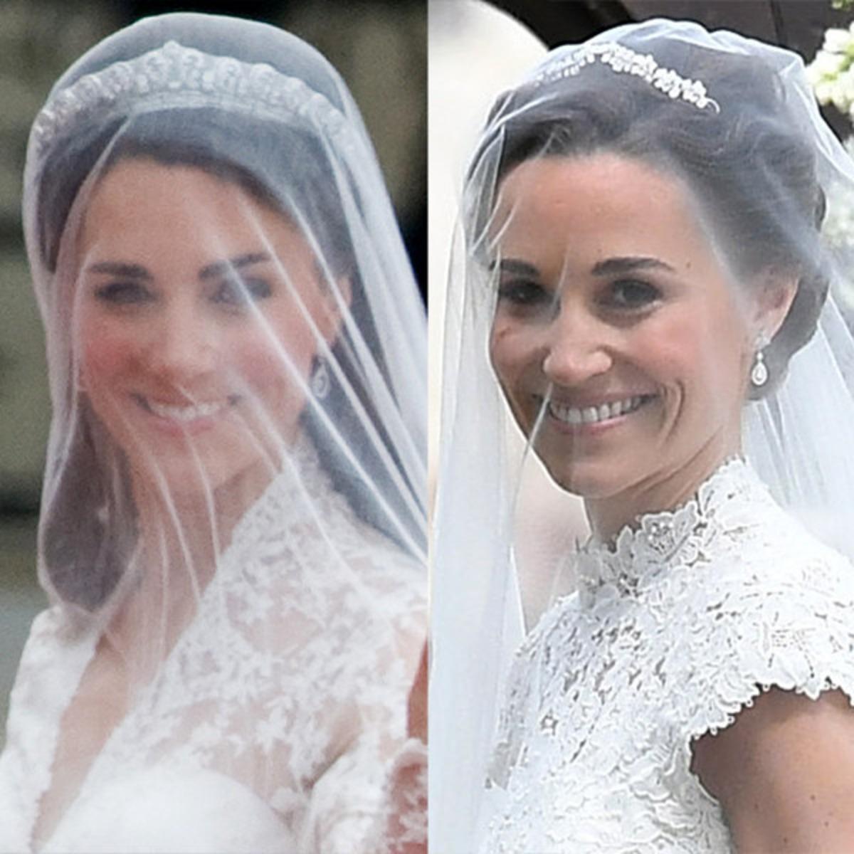 Pippa Middleton S Wedding Vs Kate Middleton S Wedding By The