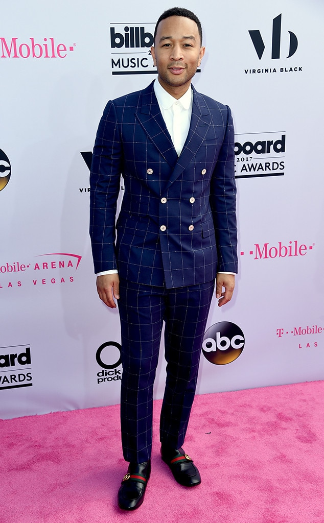 John Legend -  In 2017, the singer-songwriter channeled his inner fashion maven in Gucci.