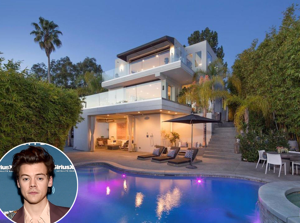 Harry styles 39 8 5 million hollywood hills bachelor pad is for Hollywood house for sale