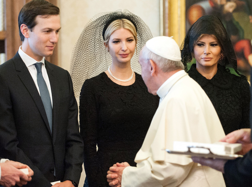 Jared Kushner, Ivanka Trump, Pope Francis, Melania Trump