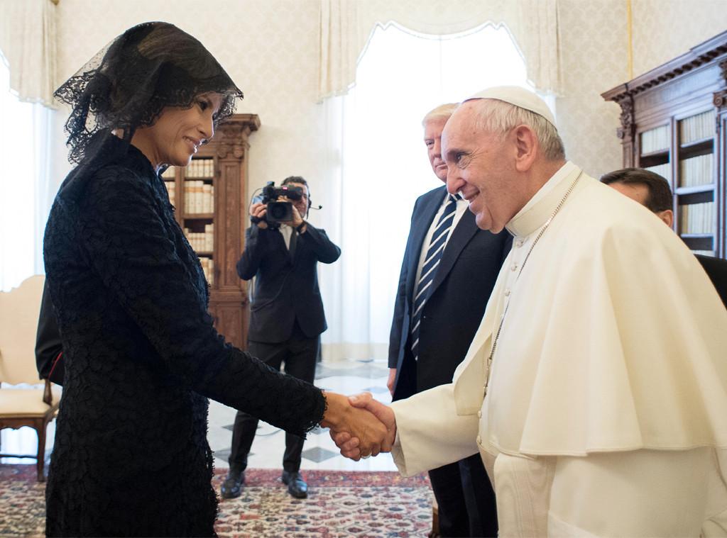 Melania Trump, Pope Francis