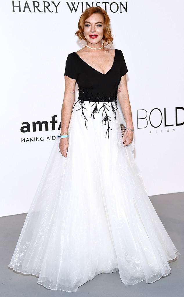 Lindsay Lohan, Amfar Gala, Cannes Film Festival 2017
