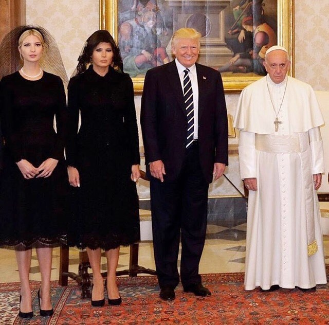 Ivanka Trump, Melania Trump, Donald Trump, Papa Francisco