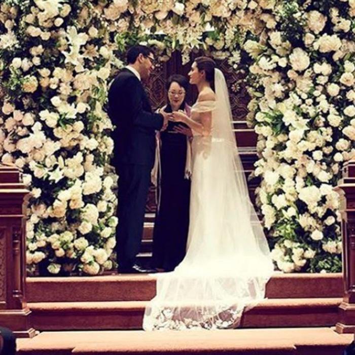 Emmy Rossum Wedding.Emmy Rossum Marries Mr Robot Creator Sam Esmail E News