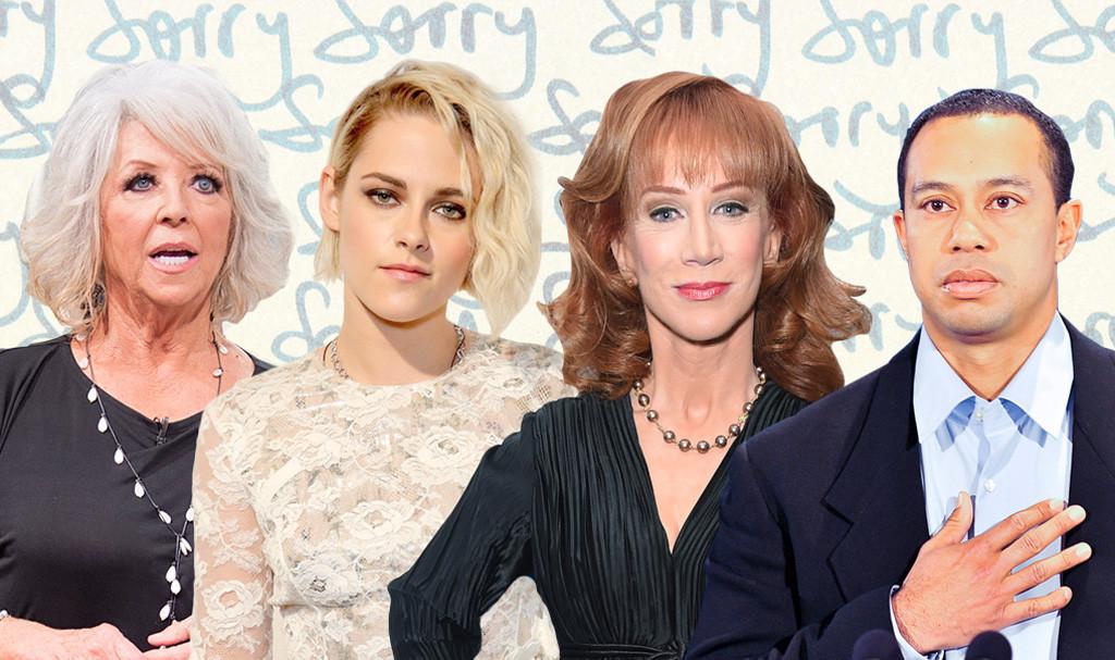 Celebrity Apologies, Kathy Griffin, Paula Deen, Kristen Stewart, Tiger Woods