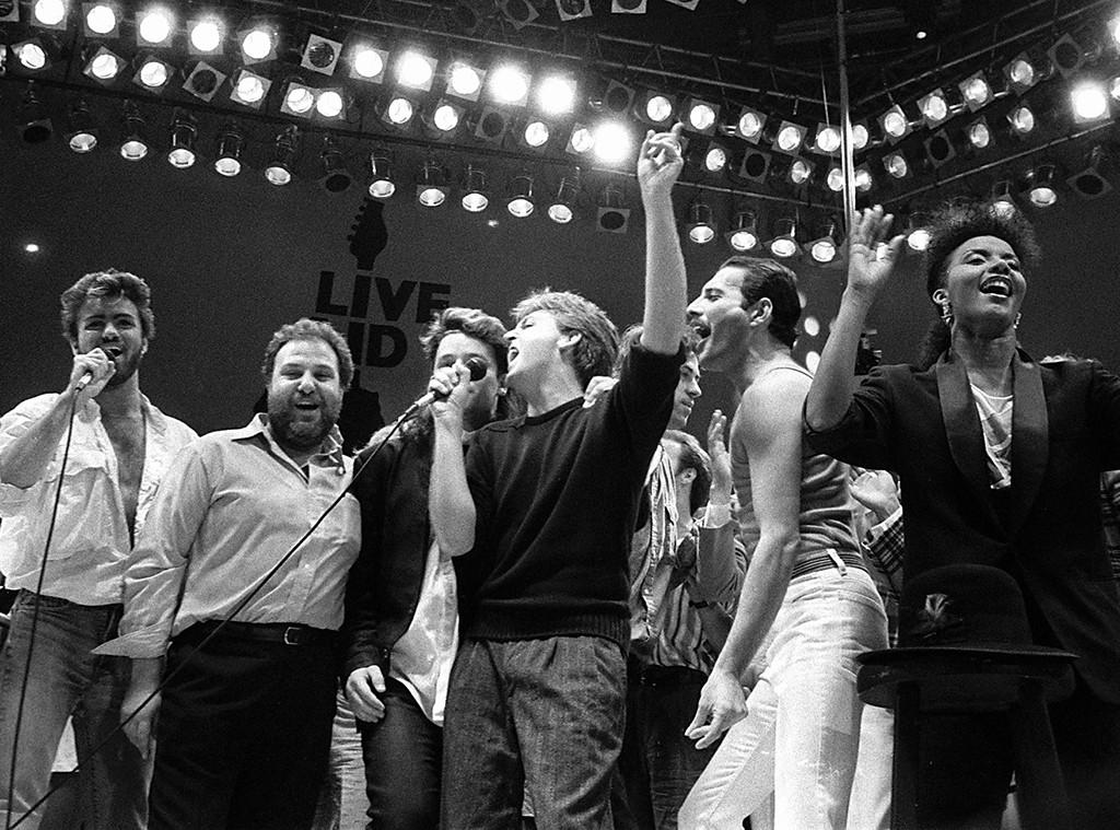 Paul McCartney, Bono, Freddie Mercury, Benefit Concerts