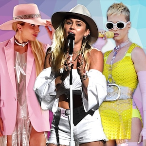 Lady Gaga, Miley Cyrus, Katy Perry, Pop Star Collage