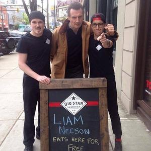 Liam Neeson, Sandwich Shop