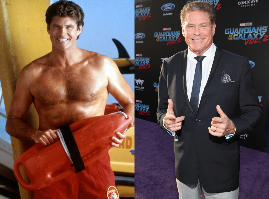 Image result for david hasselhoff then and now