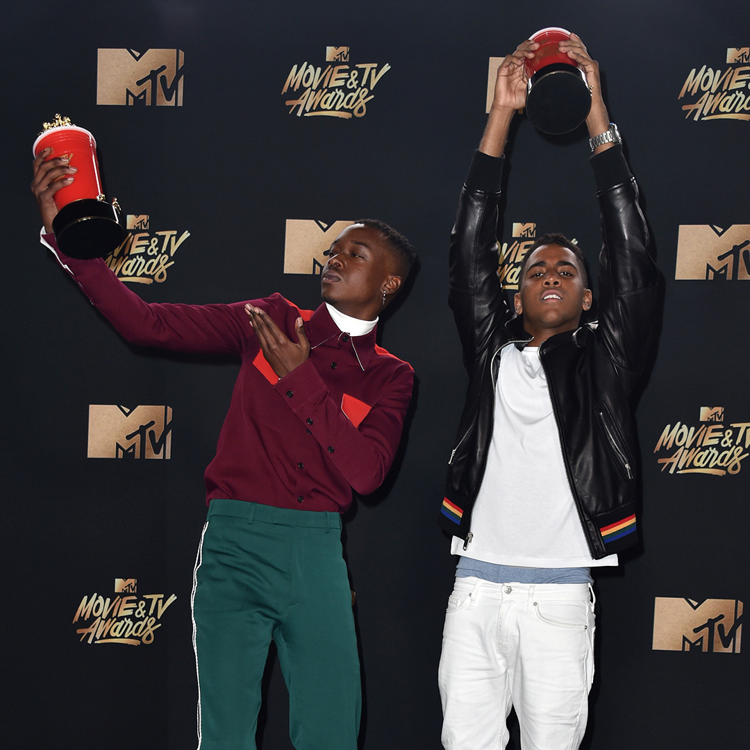 Ashton Sanders, Jharrel Jerome, 2017 MTV Movie and TV Awards