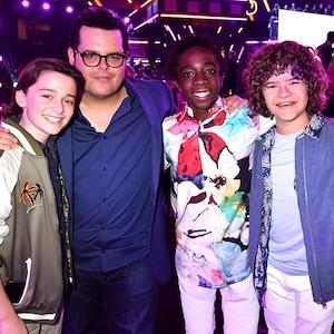 Noah Schnapp, Josh Gad, Caleb McLaughlin, Gaten Matarazzo, Millie Bobby Brown, 2017 MTV Movie and TV Awards