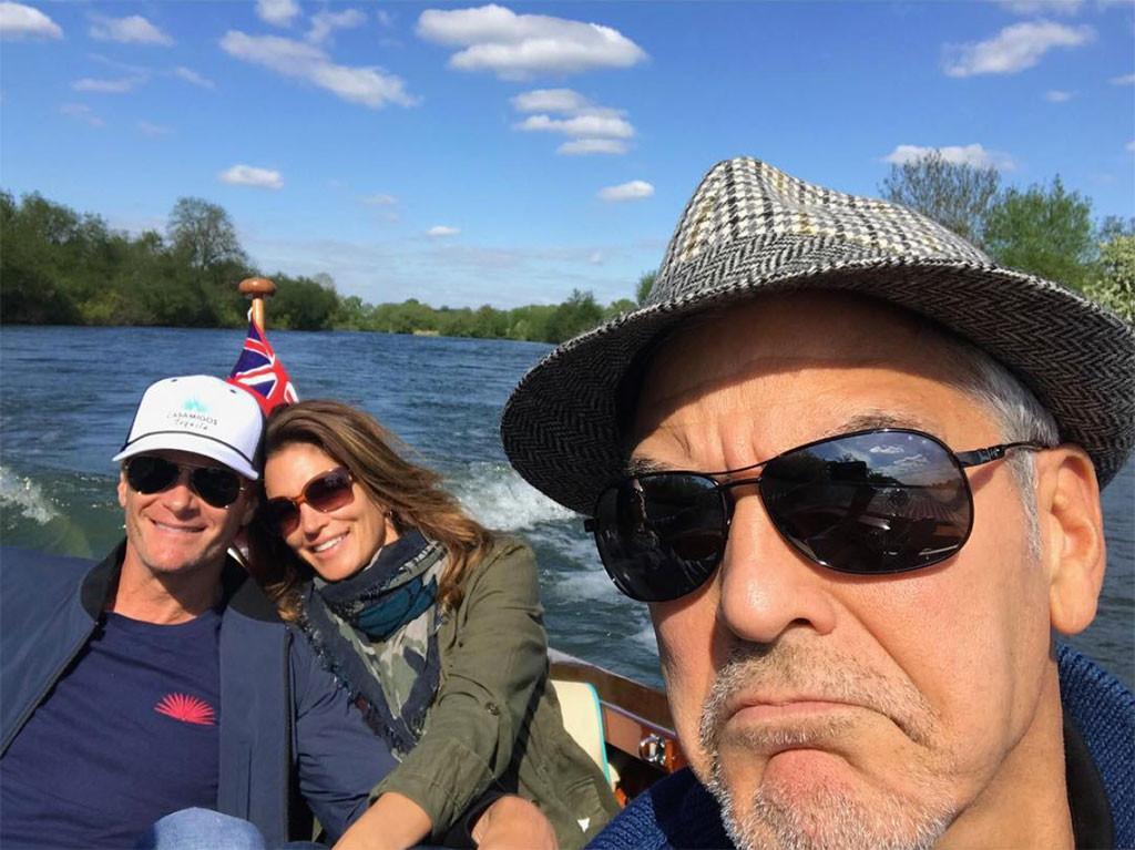Rande Gerber, Cindy Crawford, George Clooney