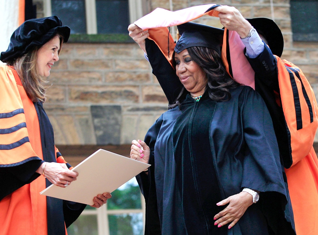 "Aretha Franklin -  The soul singer is getting the ""Respect"" she deserves, with honorary degrees from schools including Harvard, Princeton, and Yale."