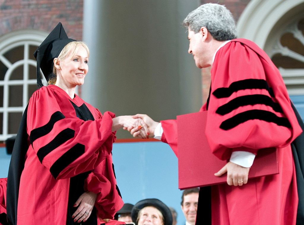 J.K. Rowling -  In a magical moment, the  Harry Potter  author was given an honorary degree from  Hogwarts  Harvard.