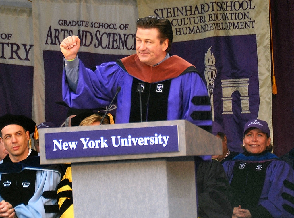 Alex Baldwin -  The  Blue Jasmine  actor donned a purple sash, receiving an honorary degree from NYU's Tisch School of the Arts.