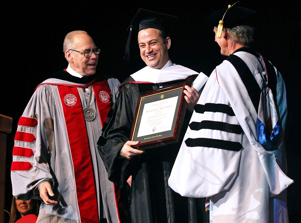 Jimmy Kimmel -  The funny man was absolutely cheesing receiving his honorary degree from the University of Nevada Las Vegas.