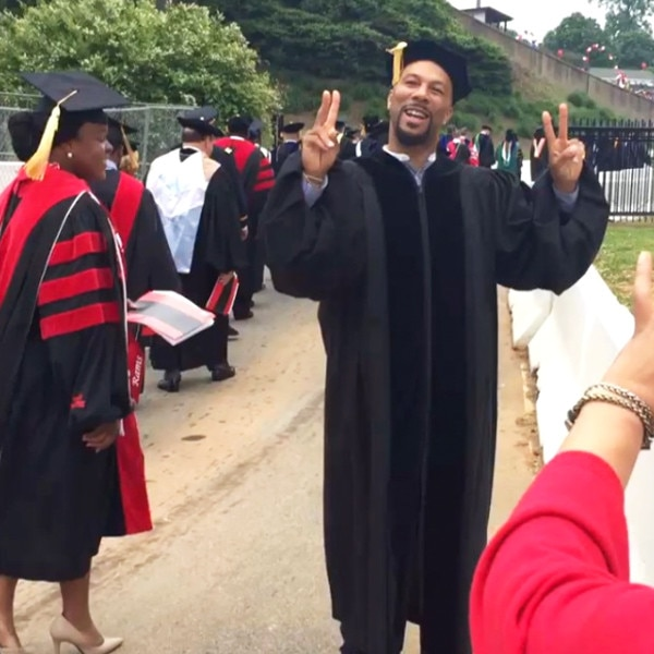 Common -  The rapper and actor received an honorary degree from Winston-Salem State University in North Carolina.
