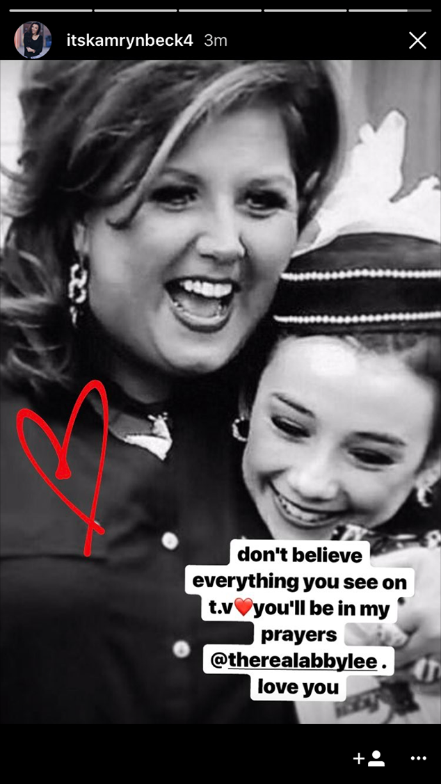 Kamryn Beck, Abby Lee Miller, Dance Moms