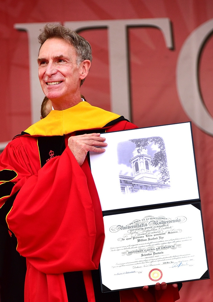 Bill Nye -  Everyone's favorite science guy has six honorary doctorate degrees...but actually never went past earning his Bachelor's at Cornell University.