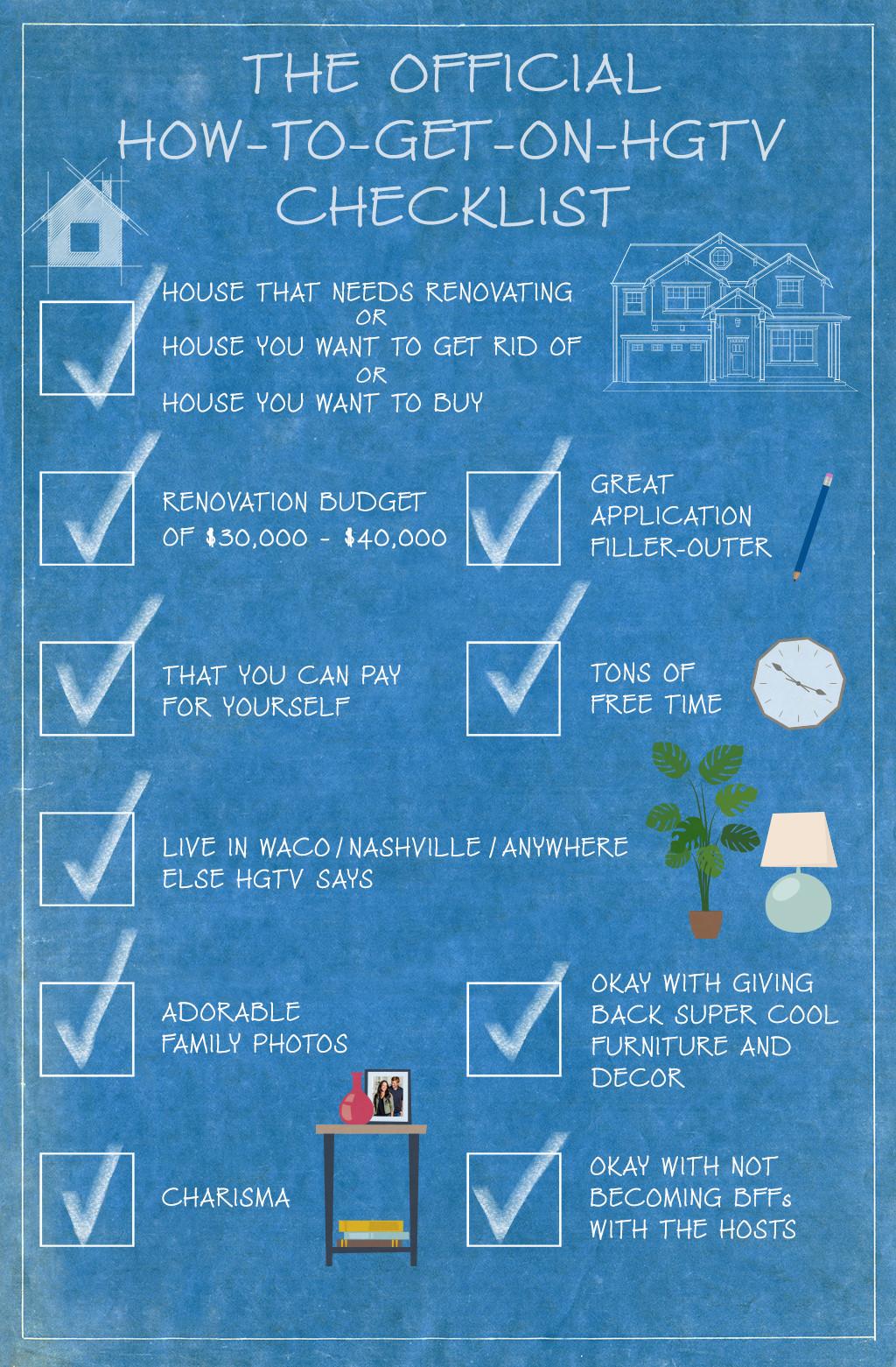 Hgtv Checklist