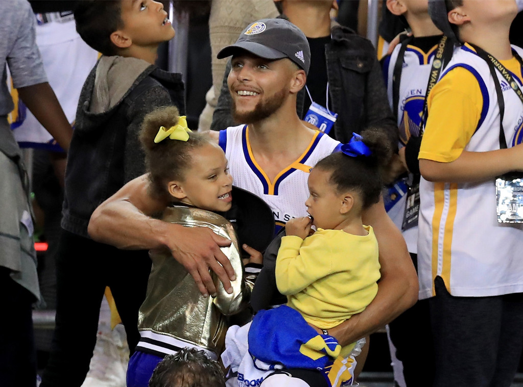Stephen Curry, Riley Curry, Ryan Curry
