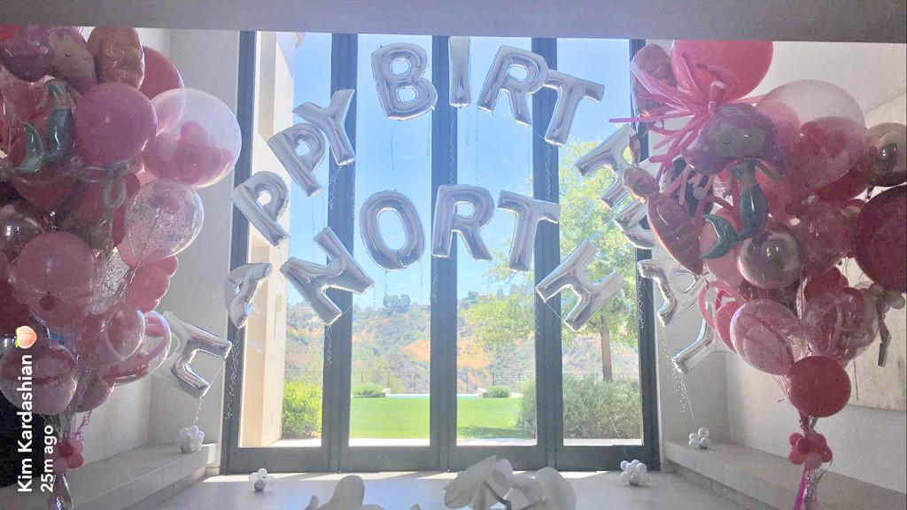 North West, 4th Birthday, Balloons