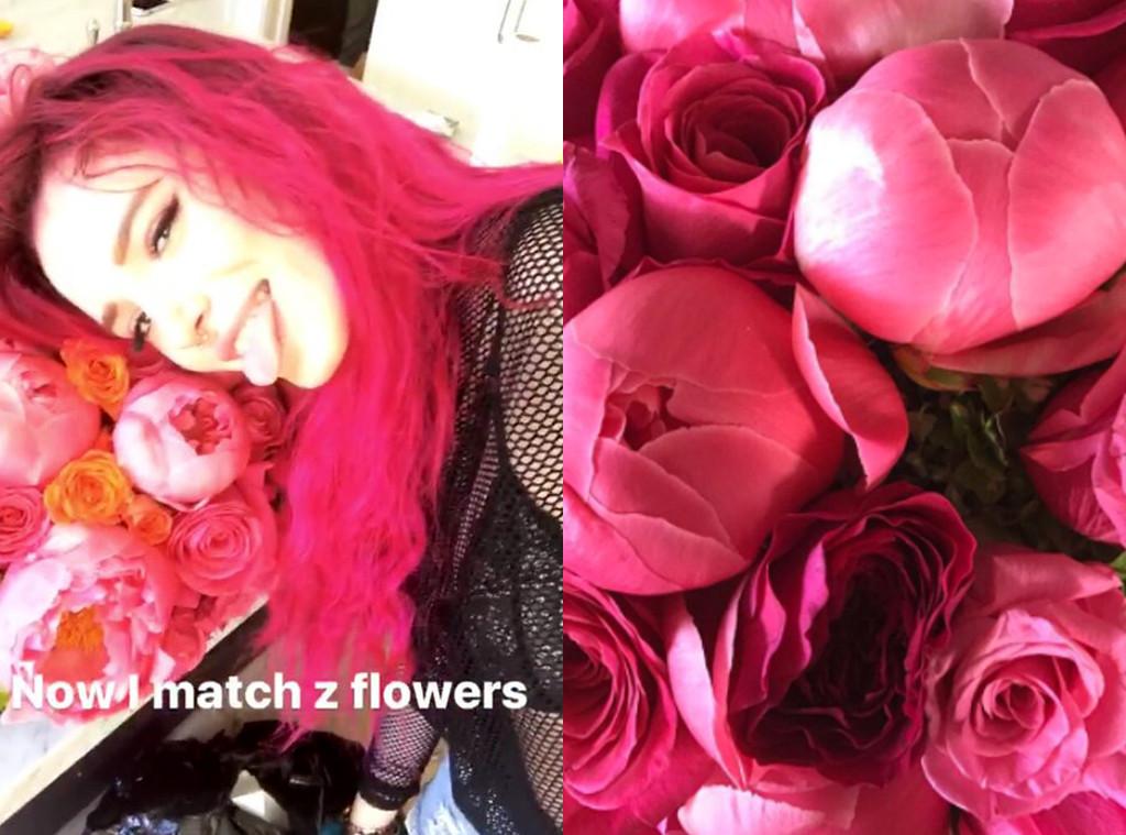 Bella Thorne, Kourtney Kardashian, Flowers