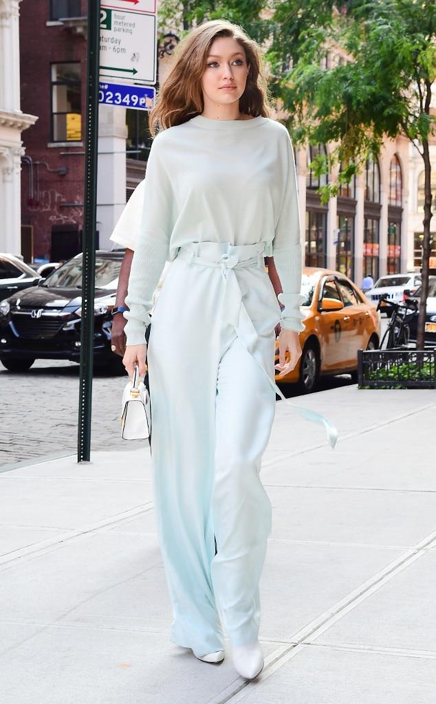 Cool Blues from Gigi Hadid's Street Style | E! News