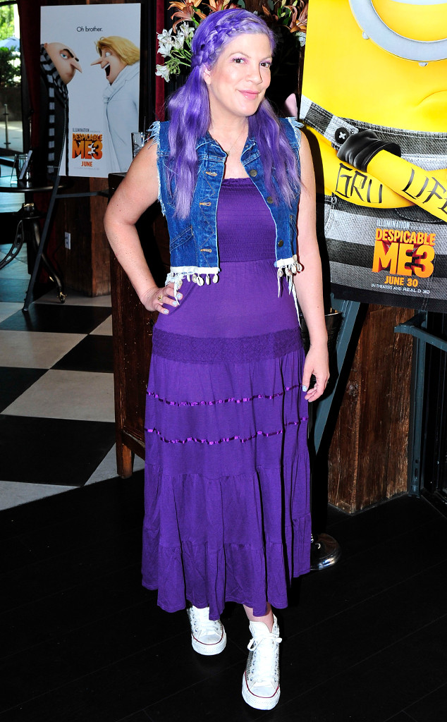 Tori Spelling's Electric New Hair Color is Giving Us Major Mermaid Vibes