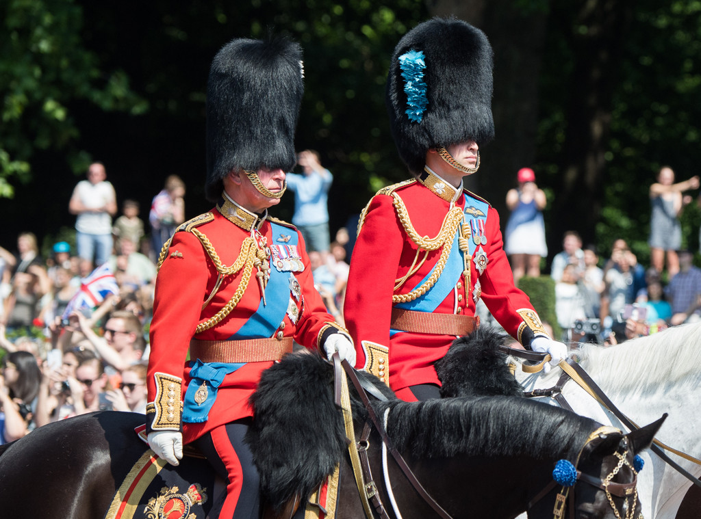 Prince William, Prince Charles, Trooping the Colour 2017