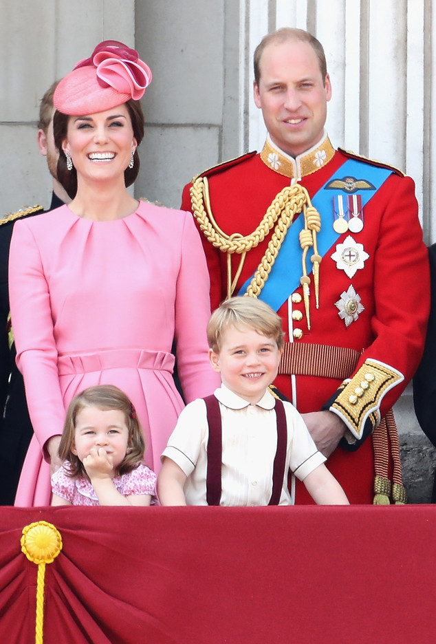 Kate Middleton, Princess Charlotte, Prince George, Prince William, Trooping the Colour 2017