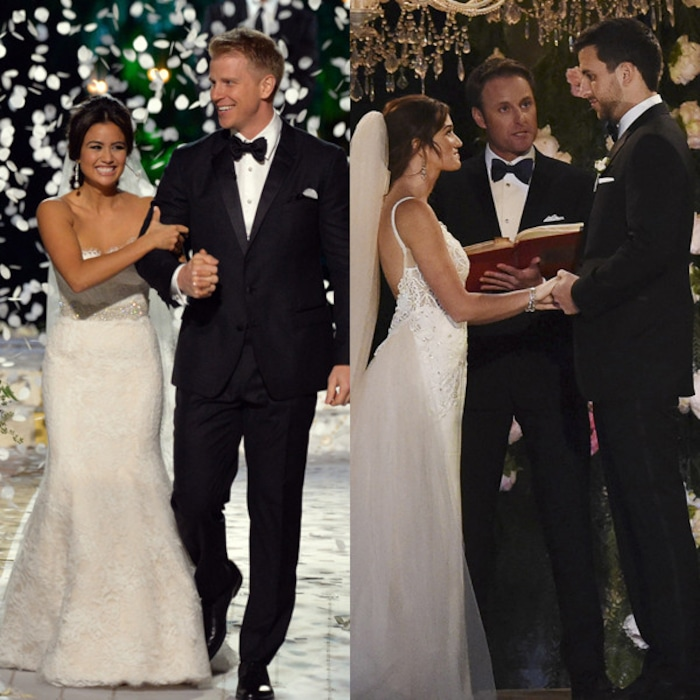 Carly And Evan Wedding.Look Back On All Of The Bachelor S Televised Weddings E News