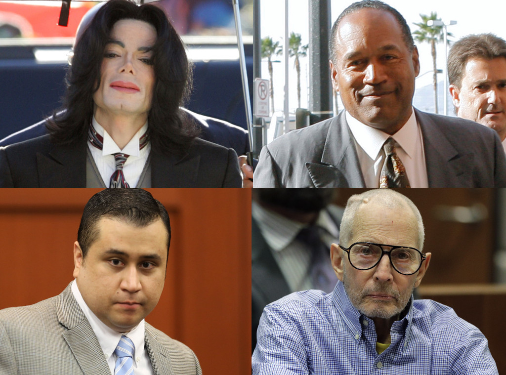 Michael Jackson, O.J. Simpson, Robert Durst, George Zimmerman