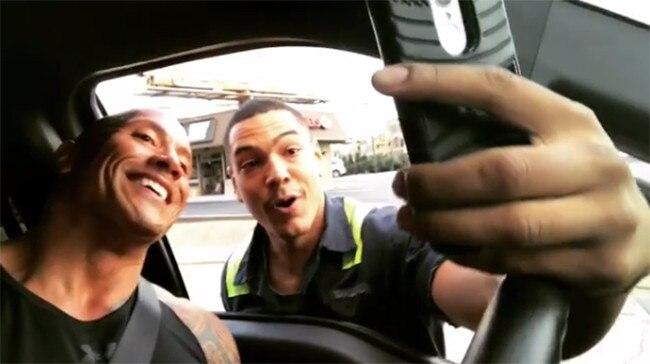 Dwayne Johnson, Selfie, Fan