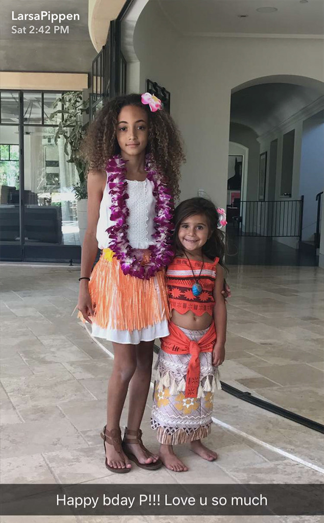 North West, 4th Birthday Party, Larsa Pippen