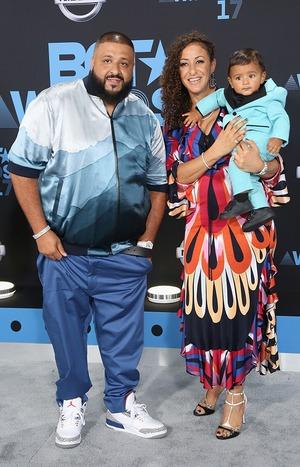 DJ Khaled, Nicole Tuck, Asahd Tuck Khaled, 2017 BET Awards, Arrivals