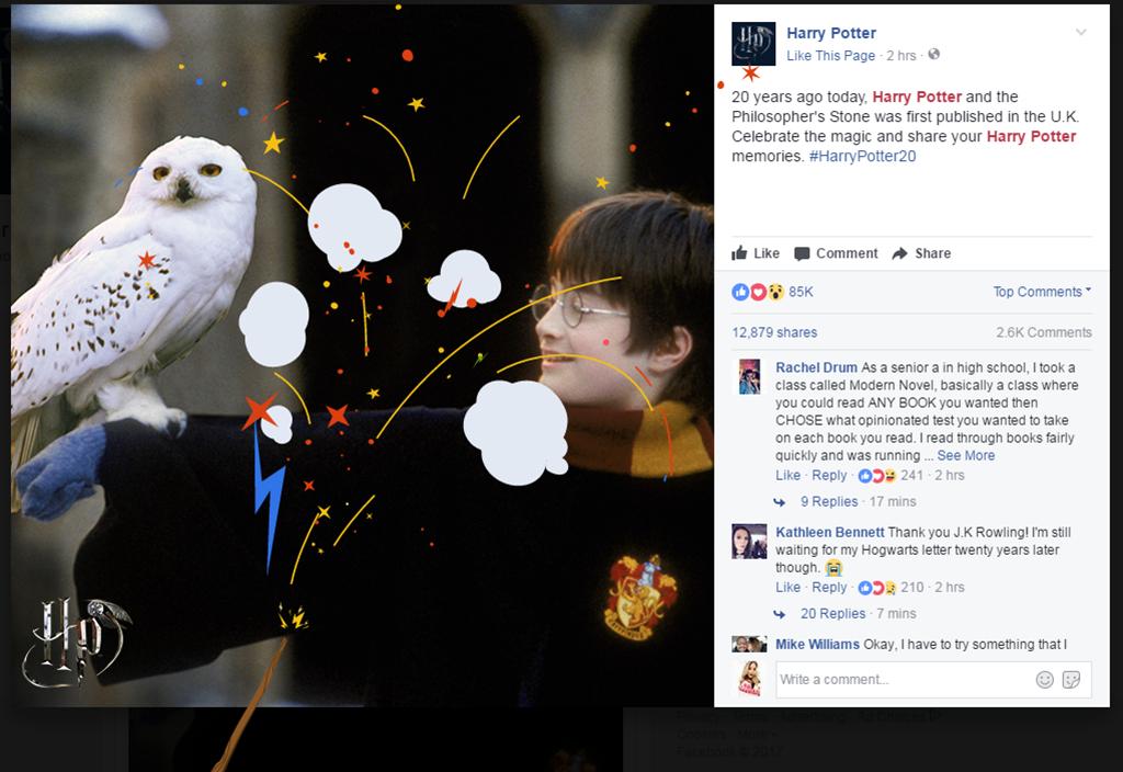 Harry Potter, Facebook