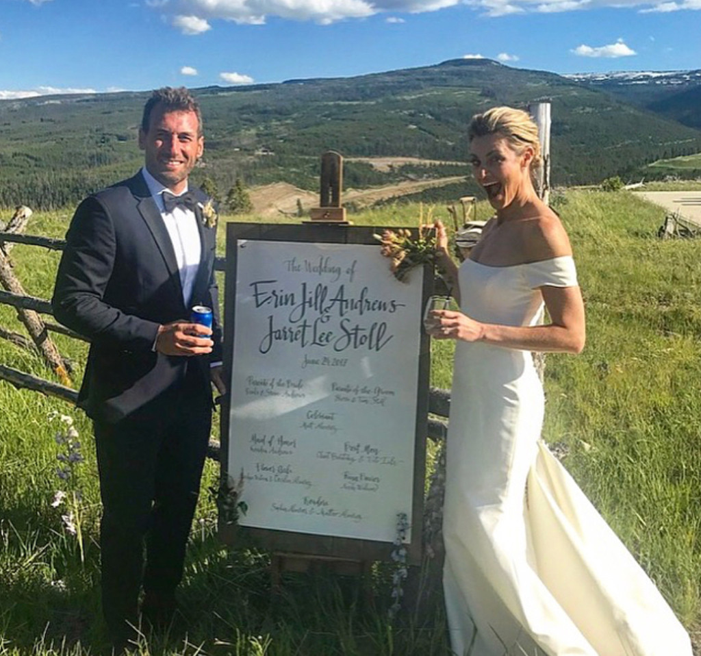 Erin Andrews, Jarret Stoll, Wedding, Instagram