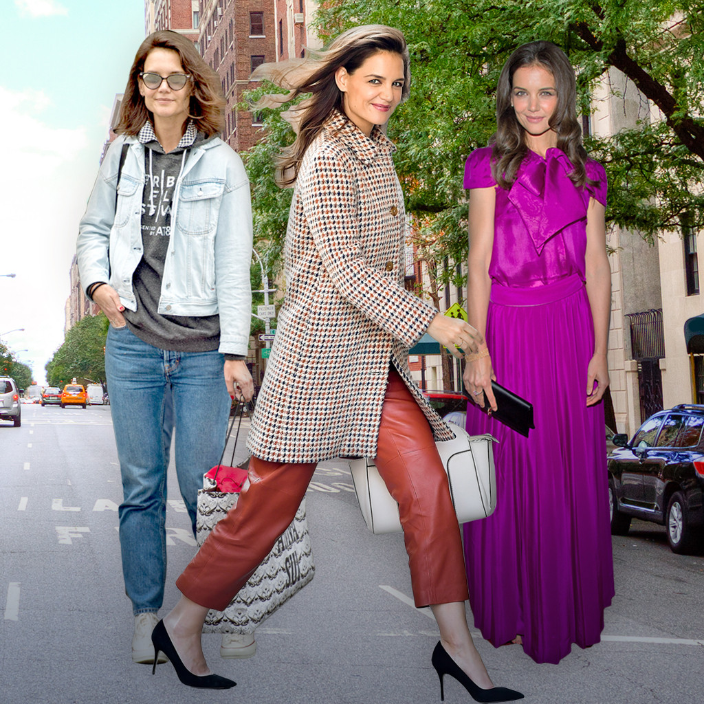 5bf2c8b413ff From Private Jets to Subway Rides  Katie Holmes  Drastically ...
