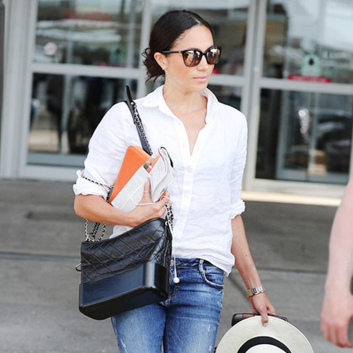 70dd09bc Get Meghan Markle's Exact Wardrobe—From Her Beanie to Her Heels | E! News