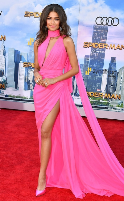 cc6762beded Zendaya Dazzles at Spider-Man  Homecoming Premiere  See Stars on the .