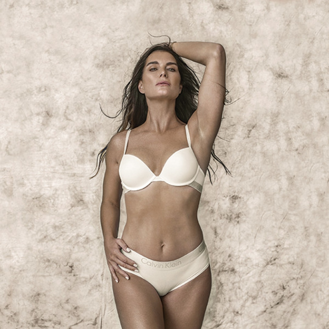 Brooke Shields Wears Calvin Klein Lingerie 37 Years After Jeans Ads - E!  Online - CA
