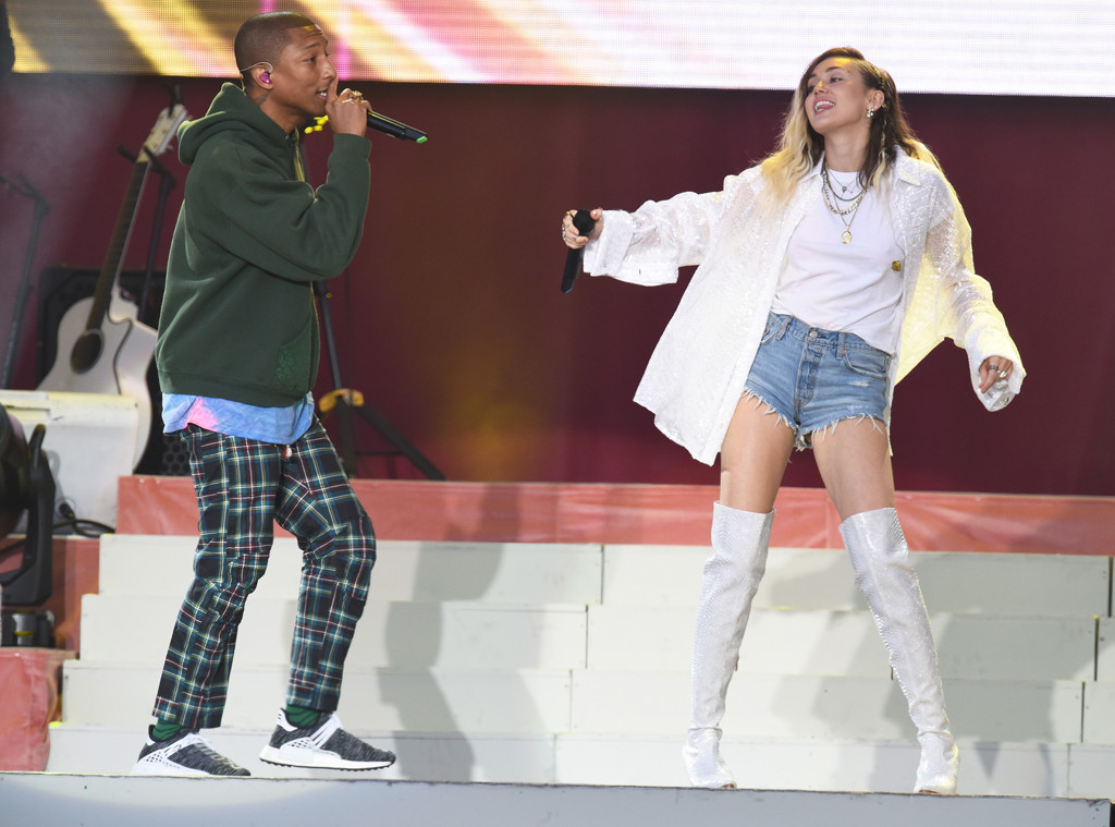 One Love Manchester benefit concert, Miley Cyrus, Pharrell Williams