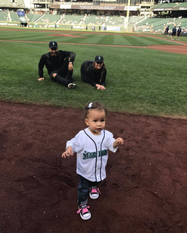 Go Team -  Luna showed her team pride for the Mariners in 2017.