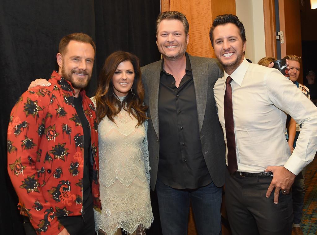 Jimi Westbrook, Karen Fairchild, Blake Shelton, Luke Bryan, 2017 CMT Music awards
