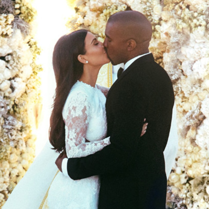 Dinner At Versailles Private Jets And That Flower Wall A Look Back On Kim Kardashian Kanye West S Multimillion Dollar Vows E News